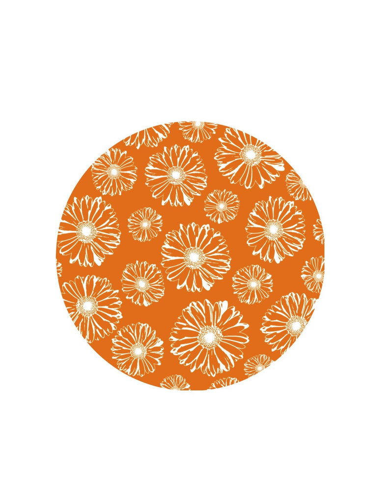 "Orange Daisies Screen Door Magnets (5.75"" x 5.75"") - Window Film World"
