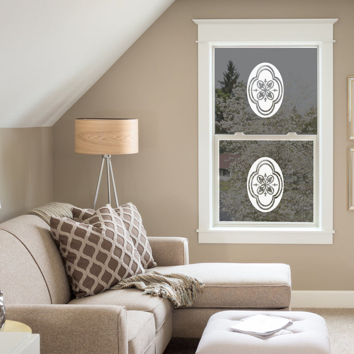 Oval Decorative Design | (Static Cling) - Window Film World