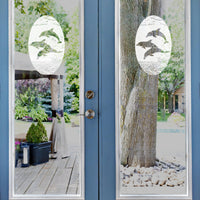 Oval Dolphins Jumping | (Static Cling) - Window Film World