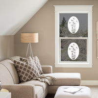 Oval Lily & Hummingbird | Static Cling - Window Film World
