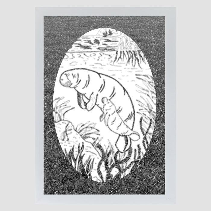 Oval Manatee | (Static Cling )