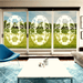Oval Rose Garland  | (Static Cling ) - Window Film World