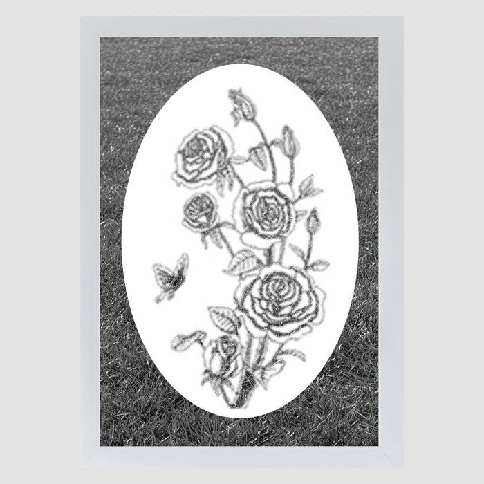 Oval Rose  | (Static Cling )