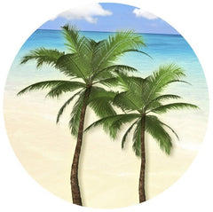 "Round Palm Tree Screen Door Magnet (5.75"" x 5.75"" ) - Window Film World"
