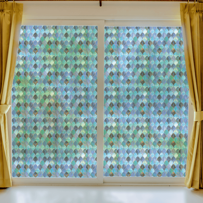 Peacock Stained Glass | Privacy Static Cling - Window Film World