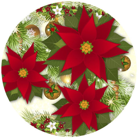 Poinsettia Screen Door Magnet (5.75X5.75) - Window Film World