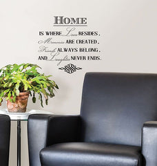 Home is Where Wall Quote - Window Film World