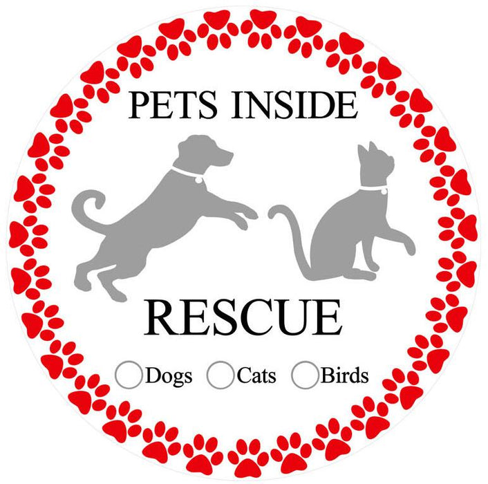"Pet Rescue Screen Door Magnets (5.75"" x 5.75"") - Window Film World"