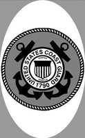 "4"" x 6"" U.S. Coast Guard Decal 
