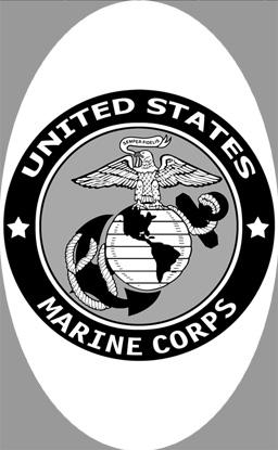 "4"" x 6"" U.S. Marine Corp Decal 