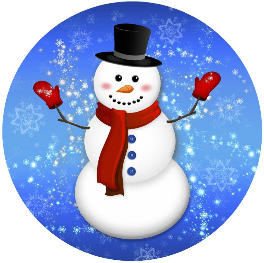 "Snowman Screen Door Magnet (5.75"" x 5.75"") - Window Film World"