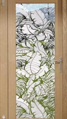 Etched Window Film Sliding Glass Door Film Tropical