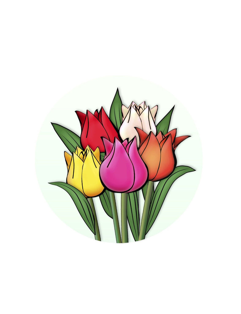 "Tulips Screen Door Magnets (5.75"" x 5.75"") - Window Film World"