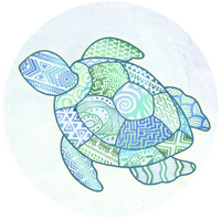 "Turtle Zentangle Screen Door Magnets (5.75"" x 5.75"") - Window Film World"