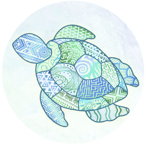 Turtle Zentangle Screen Door Magnet (5.75x5.75) - Window Film World