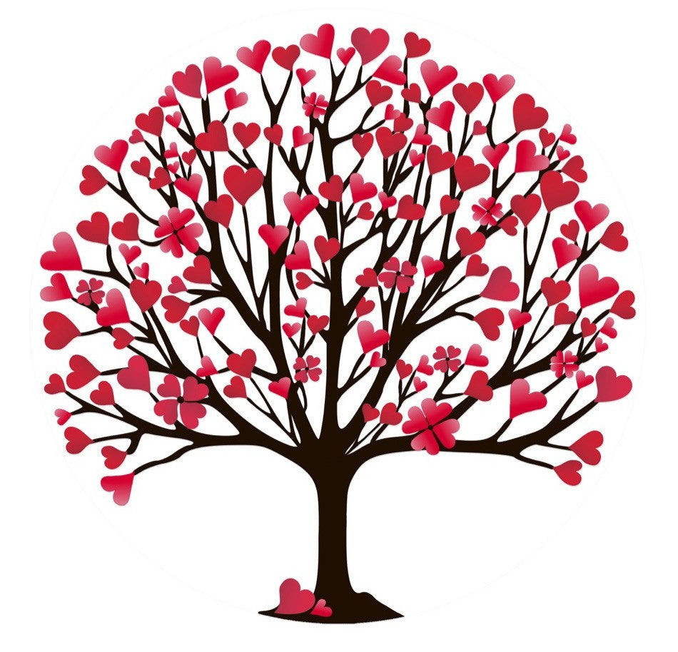 "Valentine's Tree Screen Door Magnet (5.75"" x 5.75"" ) - Window Film World"