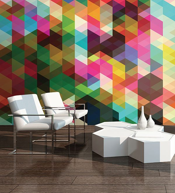 Geometrix Wall Mural - Window Film World