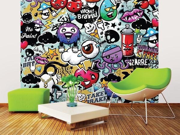 Graffiti Monster Wall Mural - Window Film World