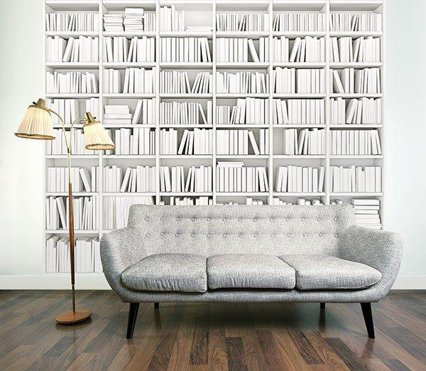Library Wall Mural - Window Film World