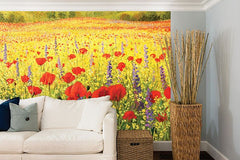 Summer Meadow Wall Mural - Window Film World