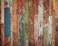 Weathered Wood Wall Mural - Window Film World