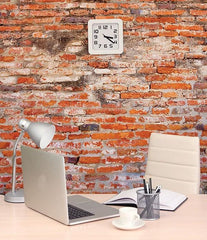 Red Brick Wall Mural - Window Film World