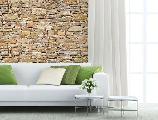 Stone Wall Mural - Window Film World