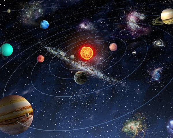 Solar System Wall Mural - Window Film World