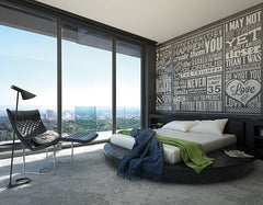 Chalk Quotes Wall Mural - Window Film World