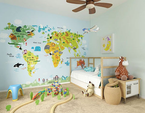 The Whole Wide World Wall Mural - Window Film World