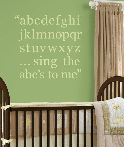 Pea Pod Green Alphabet Wall Decals - Window Film World