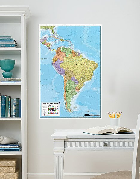South America Dry Erase Map on