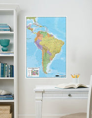 South America Dry Erase Map - Window Film World