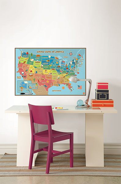 Kids USA Dry Erase Map - Window Film World