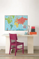 Kids World Dry Erase Map - Window Film World