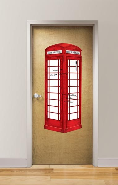 London Phone Booth - Message Board Decal - Window Film World