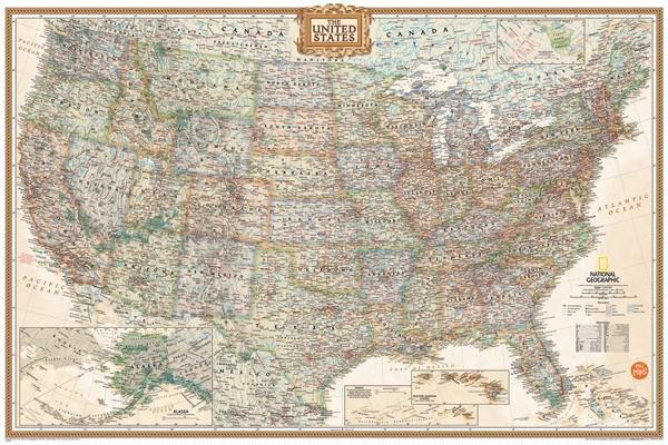National Geographic USA Map - Window Film World