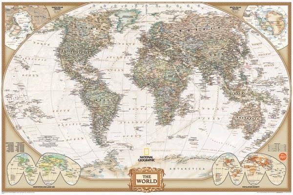 National Geographic World Map - Window Film World