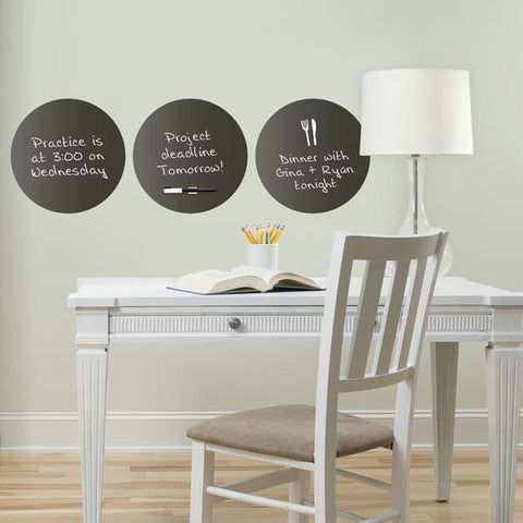 Charcoal Black Dry Erase Decal Dot - Window Film World