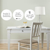 Ghost White Dry Erase Decal Dot - Window Film World