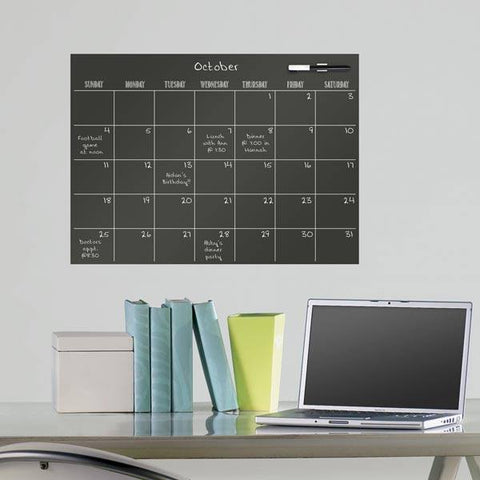 Black Dry Erase Calendar Decal - Window Film World