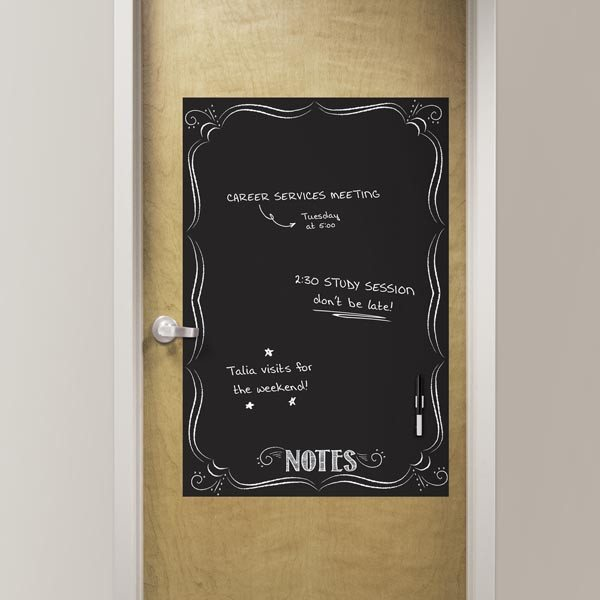 Bistro Notes Black Dry Erase Message Board Decal - Window Film World