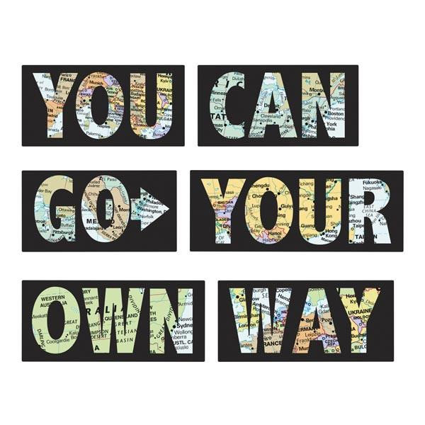 Go Your Own Way - Wall Decal Quotes - Window Film World