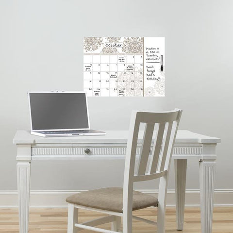 Kolkata Dry Erase Calendar Decal with Notes - Window Film World