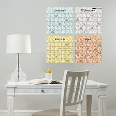 Pop Art 4 Piece Calendar - Window Film World