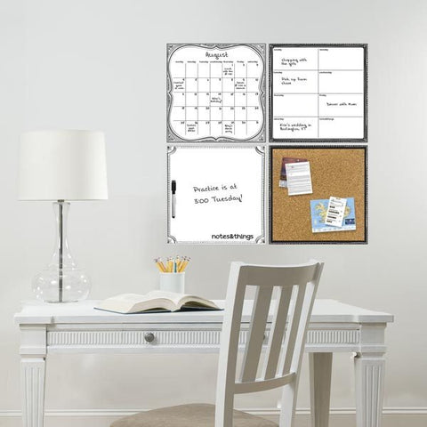 White Dry Erase Organization Decal Kit - Window Film World