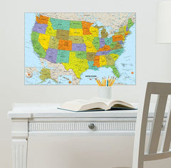 USA Dry Erase Map Decal - Window Film World