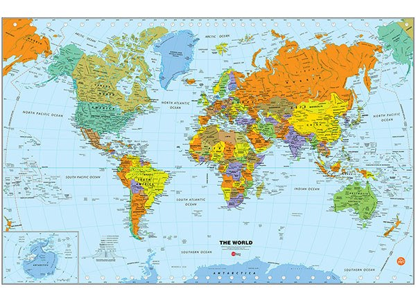 World Dry Erase Map Decal on