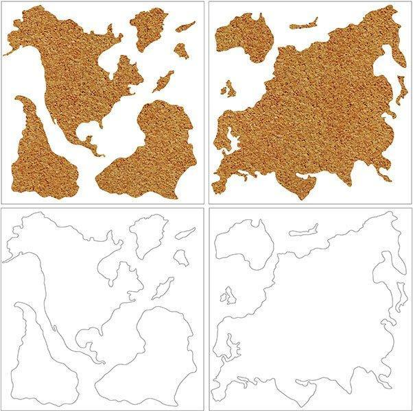 Cork Map Pinboard - Window Film World