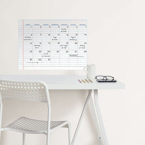 Notepad Monthly Calendar Decal - Window Film World